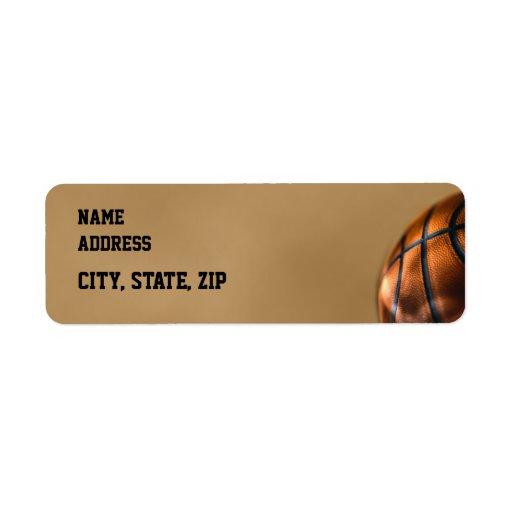 Remite de la graduación del baloncesto etiquetas de remite