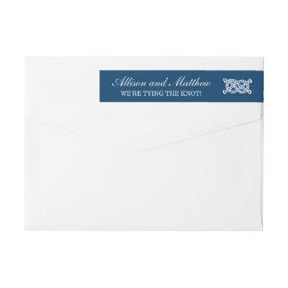 Remite de la marina de guerra náutica del boda el etiquetas para remite