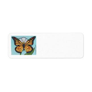 Remite de la mariposa de monarca de David Smith Etiquetas De Remite