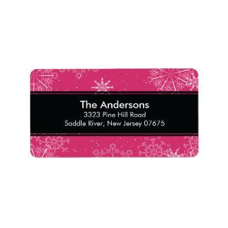 Remite de las vacaciones de invierno rosadas de lo etiquetas de dirección