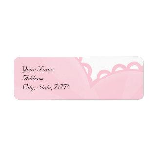 Remite del corazón rosado de la diversión de la ma etiquetas de remite