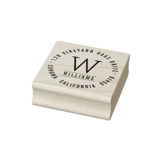 Remite del monograma clásico de encargo sello de caucho