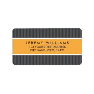 Remite del panel anaranjado gris con clase de las etiqueta de dirección