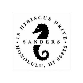 Remite del Seahorse del verano Sello De Caucho