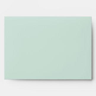 remite del sobre antiguo de la verde menta 5 x 7