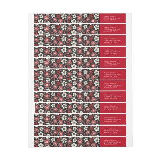 Remite envuelto del diseño del japonés de Sakura Etiquetas Envolventes De Remitente