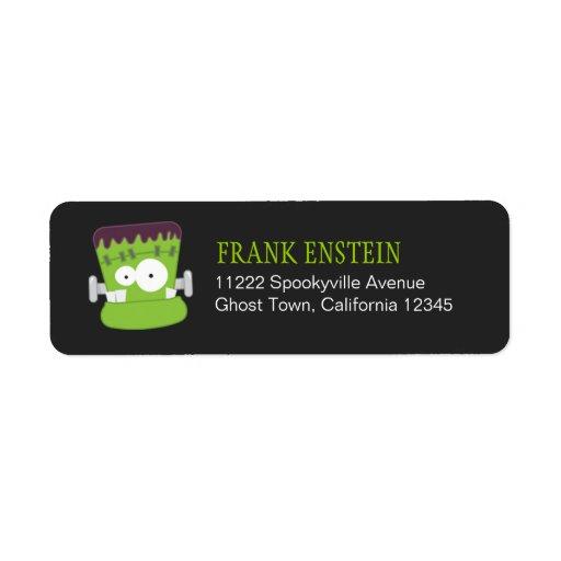 Remite Labe de Halloween del monstruo de Frankenst Etiquetas De Remite