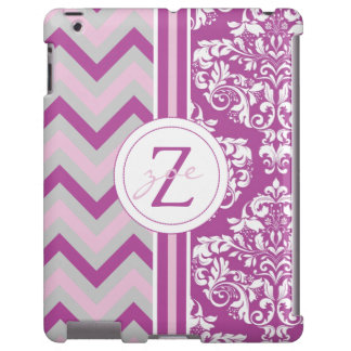 REMIX Radiant Orchid & Pink, Gray & White Chevron