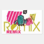 remix rectangular sticker
