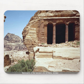 Remnants of the ancient city of Petra, Jordan Mouse Pad