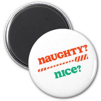 ¿REMO travieso del navidad de RowChick agradable? Imán Redondo 5 Cm