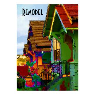 Remodele los hogares tarjetas de visita grandes