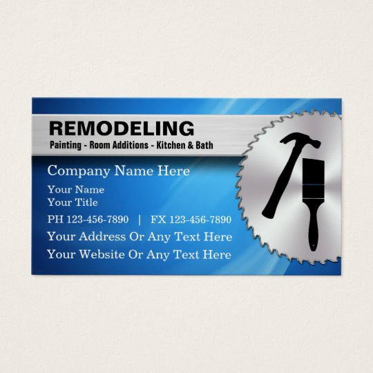 Remodeling business cards zazzle remodeling business cards reheart Choice Image