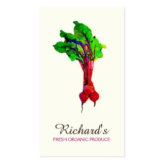 Remolachas vegetales plantillas de tarjetas personales