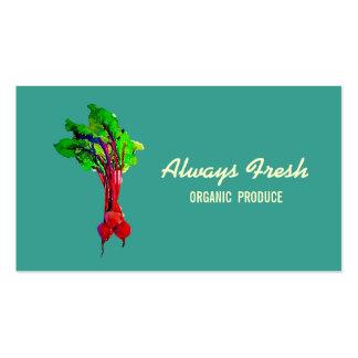 Remolachas vegetales tarjeta de visita