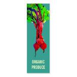 Remolachas vegetales tarjetas de visita