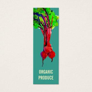 Remolachas vegetales tarjetas de visita mini