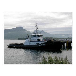 Remolcador de Gyrfalcon en el puerto holandés AK Tarjeta Postal