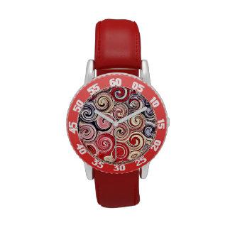 Remolina modelo rosado azul rojo colorido bonito relojes