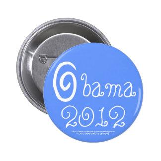 Remolino 2012 de la victoria de Obama Pin Redondo 5 Cm