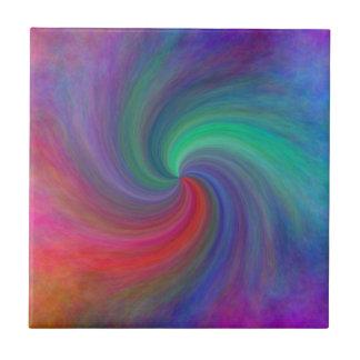 Remolino abstracto #12, regalos azulejo cuadrado pequeño