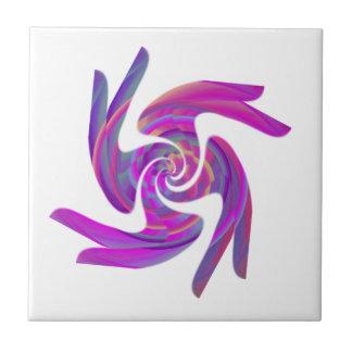 Remolino abstracto #75, regalos y camisetas azulejo cuadrado pequeño