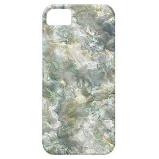 Remolino abstracto blanco nacarado iPhone 5 funda