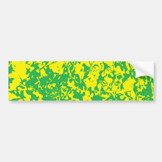 Remolino abstracto etiqueta de parachoque