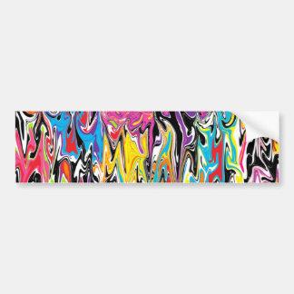 Remolino abstracto pegatina de parachoque