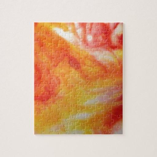 Remolino abstracto caliente puzzle