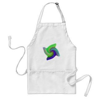 Remolino abstracto, camisetas, regalos delantal