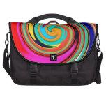 Remolino abstracto colorido vibrante de creyones d bolsa de ordenador