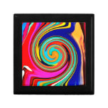 Remolino abstracto colorido vibrante de creyones d cajas de joyas