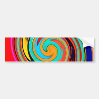 Remolino abstracto colorido vibrante de creyones d pegatina de parachoque
