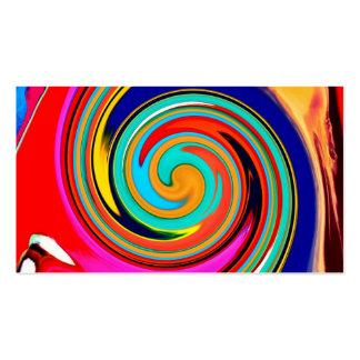 Remolino abstracto colorido vibrante de creyones d tarjeta de visita