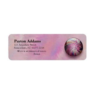 Remolino abstracto colorido y mármol brillante de etiqueta de remite