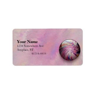 Remolino abstracto colorido y mármol brillante de etiquetas de dirección