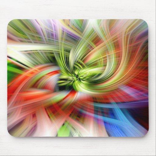 Remolino abstracto de colores mouse pad