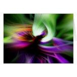 Remolino abstracto de colores tarjeta