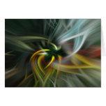 Remolino abstracto de colores tarjeton