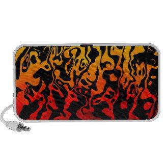 Remolino abstracto de la lava iPhone altavoces