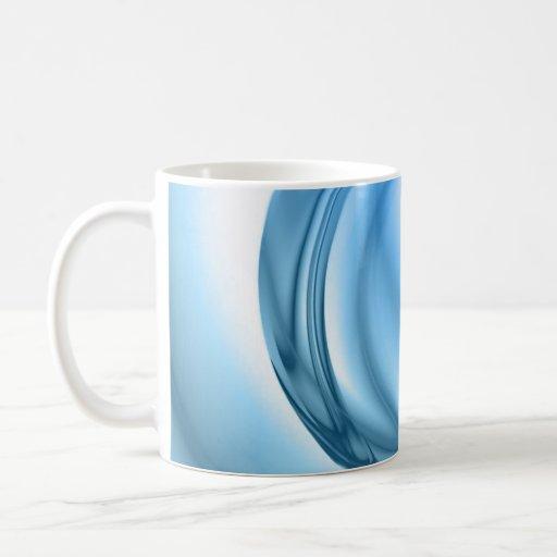 Remolino abstracto del agua texturizado tazas de café