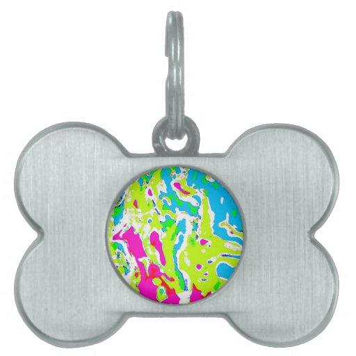 Remolino abstracto del color en productos placas mascota