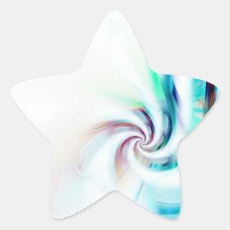 Remolino abstracto del fractal texturizado pegatina en forma de estrella