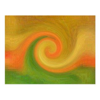 Remolino abstracto del otoño del pixel tarjetas postales