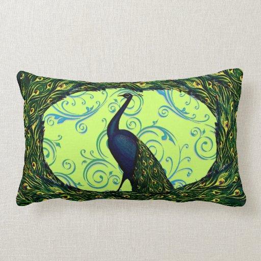 Remolino adaptable del pavo real del vintage almohada