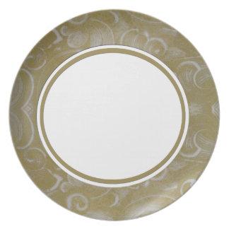 Remolino adornado elegante platos de comidas