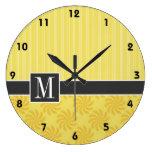 Remolino amarillo-naranja elegante relojes