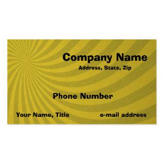 Remolino amarillo tarjetas de visita