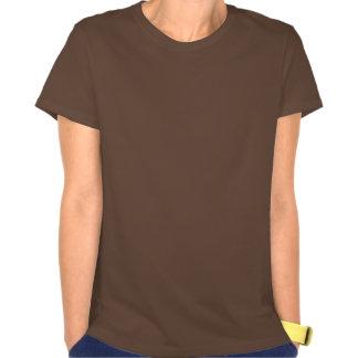Remolino anaranjado del helado camisetas